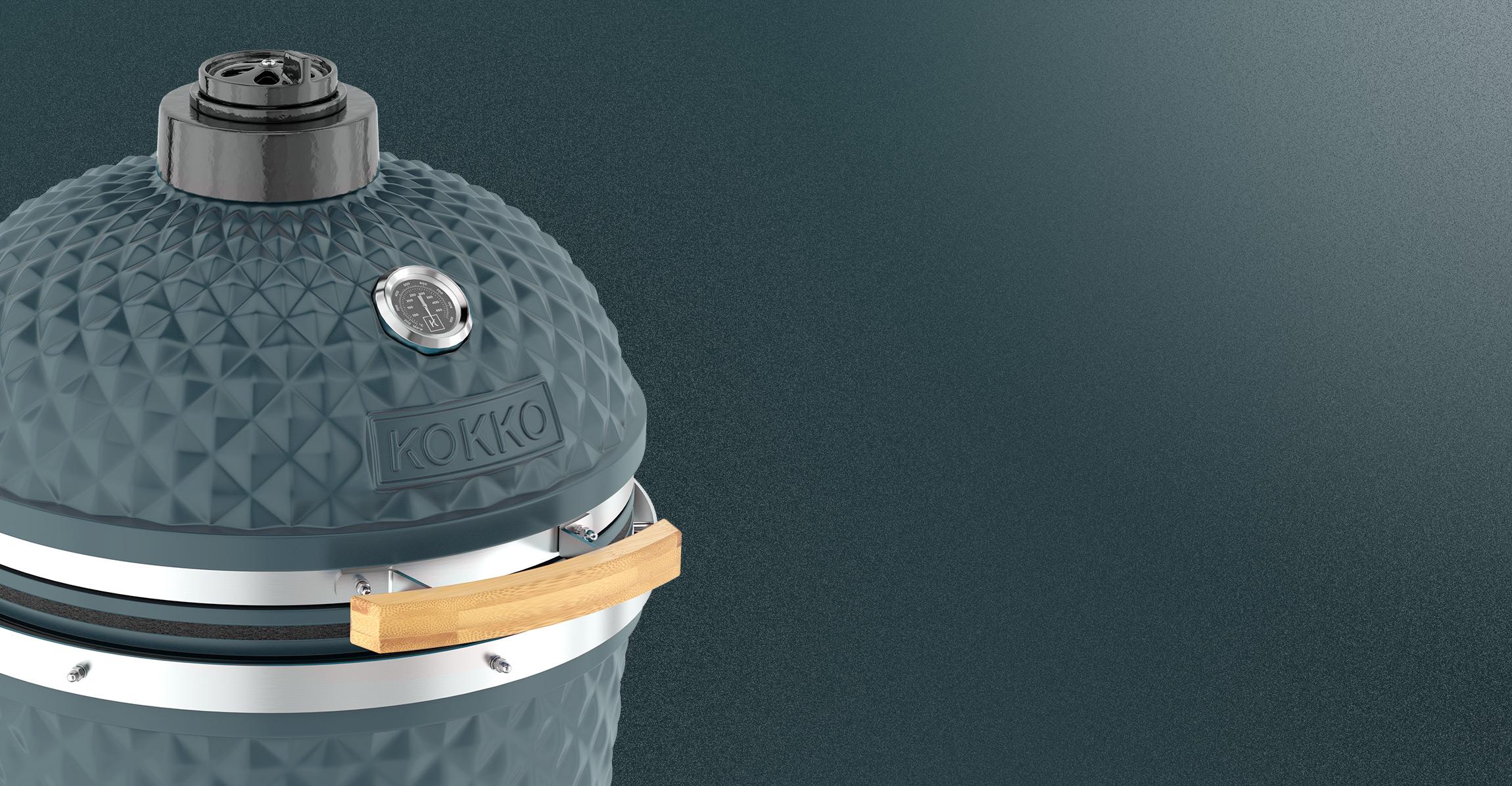 Kokko barbecue ceramique bleu